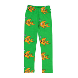 Hugo Loves Tiki Green Fish Leggings (last size - 2yrs)
