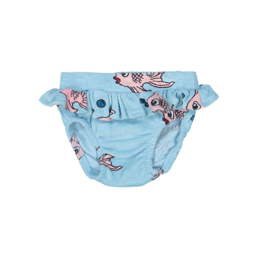 Hugo Loves Tiki Terry Ruffle Bloomer Blue Fish