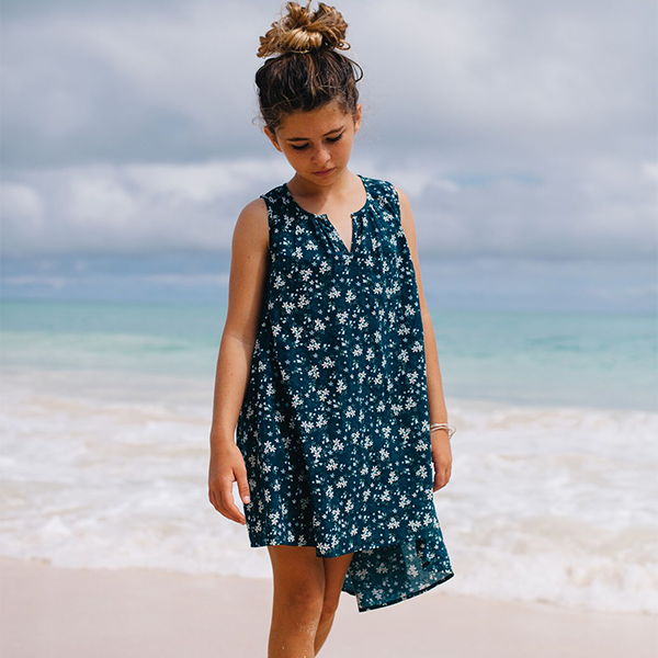 Island State Co Floral Hi Lo Dress (2y & 3y left)