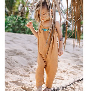 Island State Co Mexican Playsuit in Earthy Caramel (12-18m & 2-3y left)