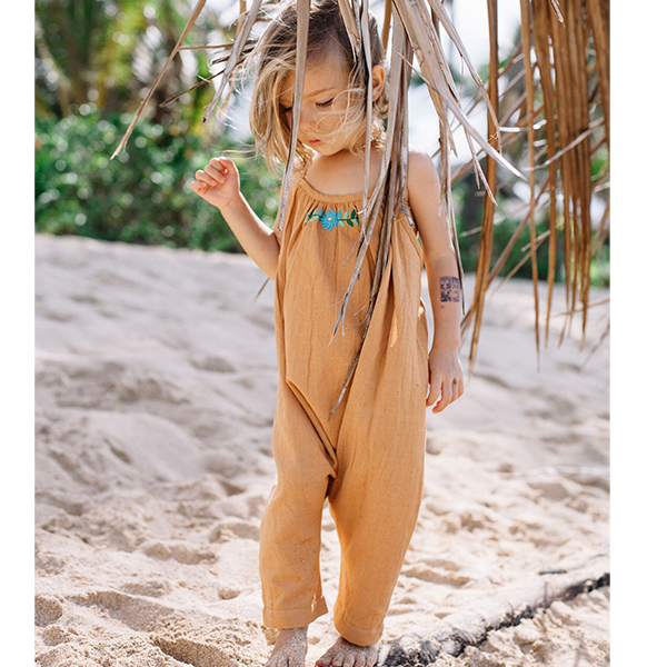 Island State Co Mexican Playsuit in Earthy Caramel (last one 12-18m)