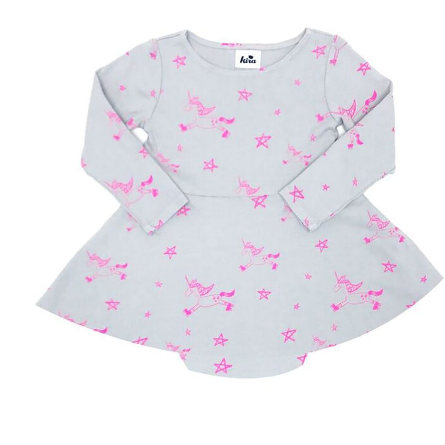 Kira Kids Unicorn Onesie Dress (last one 6-12m)