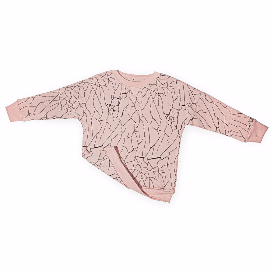 Cracked Wall Loose Sweater in Cameo Rose (last one 9-11y)