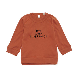 Organic Zoo Rust Love Sweater (6-12m & 1-2y left)