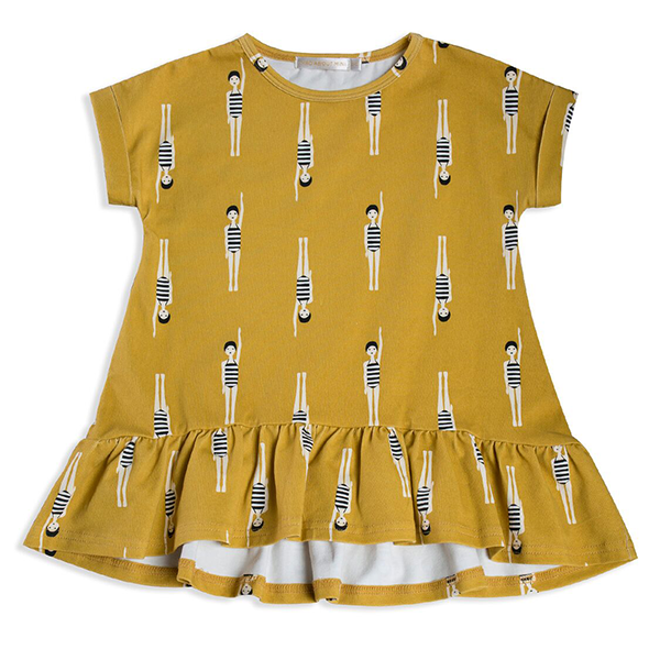 Mad About Mini Bather Girl Frill Tee Dress (6-7y & 8-9y left)