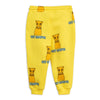 Mini Rodini Yellow Cat Campus Sweatpants