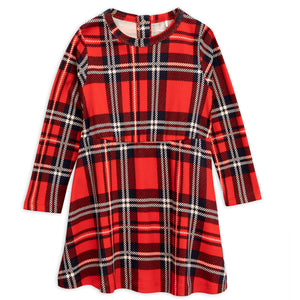 Mini Rodini Red Check AOP Dress (7-9y & 9-11y left)
