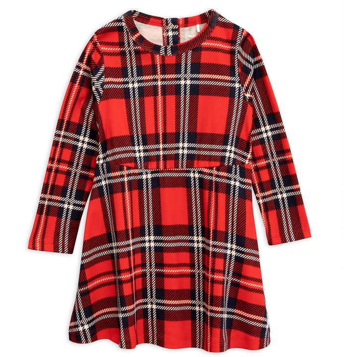 Mini Rodini Red Check AOP Dress
