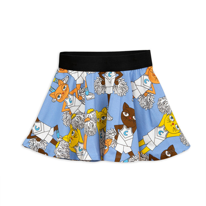 Mini Rodini Cheercat Skirt Blue (last one 18m-3y)