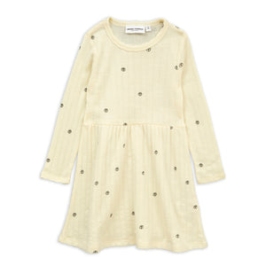 Mini Rodini Peace Pointelle Wool Dress (3-5y & 7-9y left)