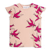 Mini Rodini Pink Swallows Wing T Shirt