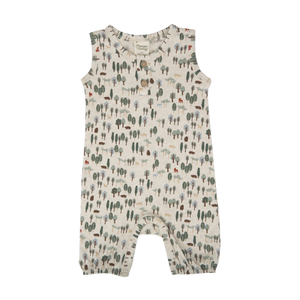 Nature Baby Forest Print Summer Suit (last one 6-12m)