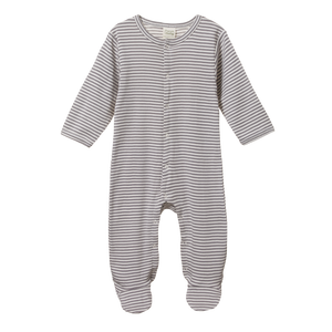 Organic Baby Stretch & Grow in Grey Stripe