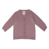 Nature Baby Knit Cardigan in Woodrose Pointelle