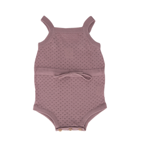 Nature Baby Woodrose Pointelle Lois Suit (one left- 12m )