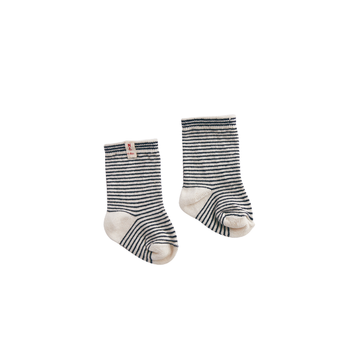 Nature Baby Organic Cotton Navy Stripe Socks