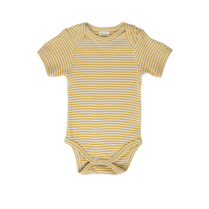 Nature Baby Sunshine Stripe Short Sleeve Bodysuit