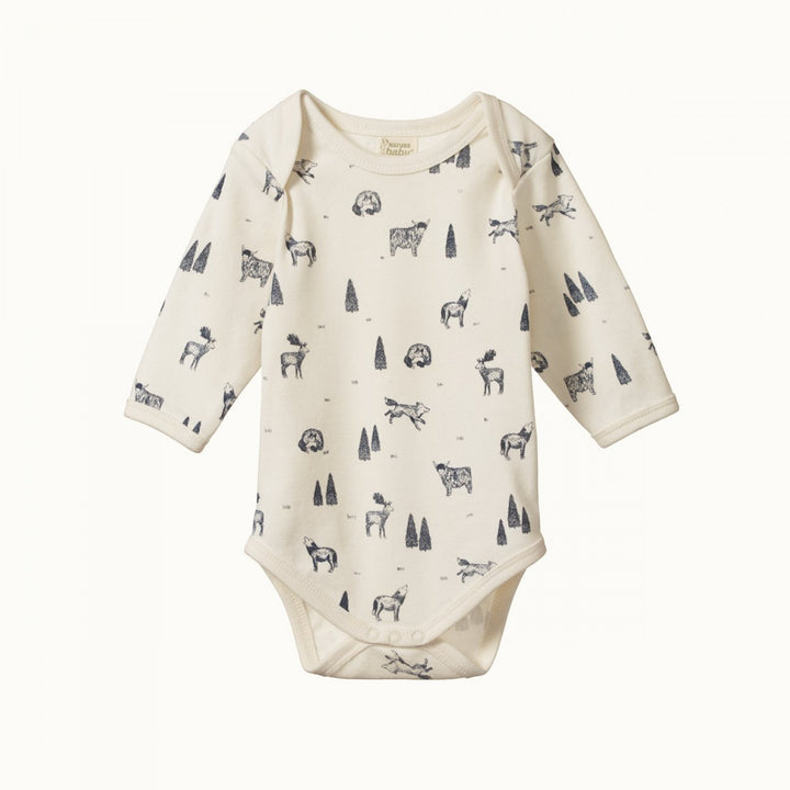 Organic Baby Bodysuit - Wilderness Print (last one 1yr)