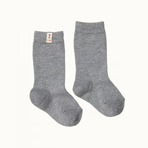 Organic Cotton Baby Socks - Grey Marl