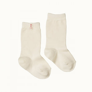 Organic Cotton Baby Socks - Natural (1-2y left)