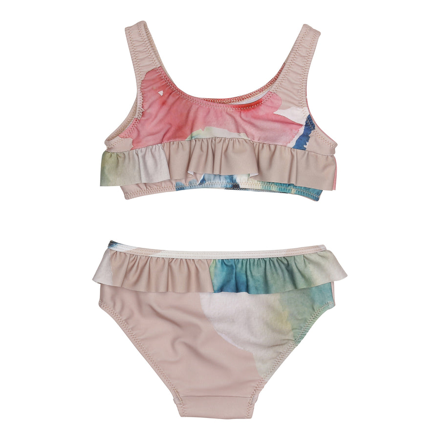 Popupshop Water Flower Ruffled Bikini