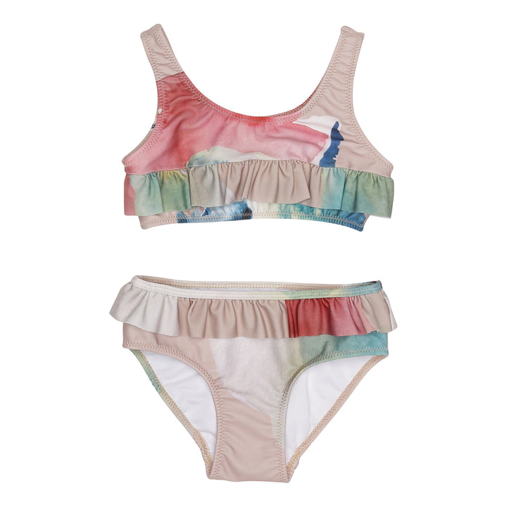 Popupshop Water Flower Ruffled Bikini (2-3y last one)