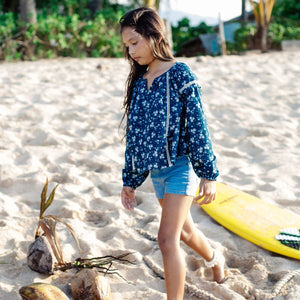 Island State Co Floral Long Sleeve Blouse