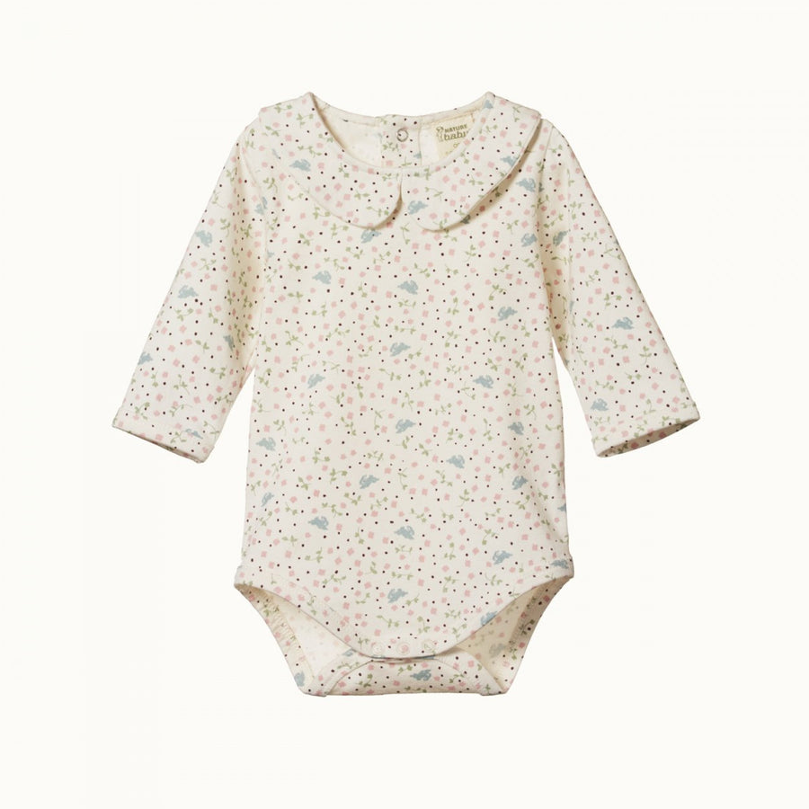 Nature Baby Sweet Pea Posey Bodysuit (6-12m & 1y left)