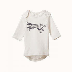 Wilderness Wolf Print Organic Baby Simple Tee