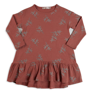 Mad About Mini Floral Long Sleeve Frill Dress (last one 6-12m)