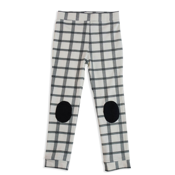 Mad About Mini Herringbone Check Patch Legging (last one 3-6m)