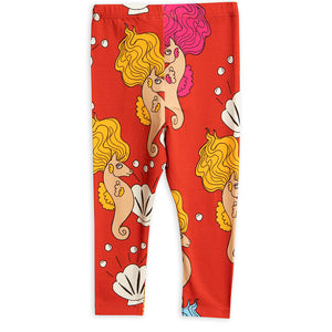 Mini Rodini Red Seahorse Leggings (7-9 & 9-11y left)