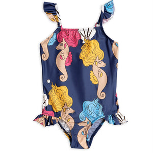 Mini Rodini Seahorse Wing Swimsuit Navy (9-18m & 5-7y left)