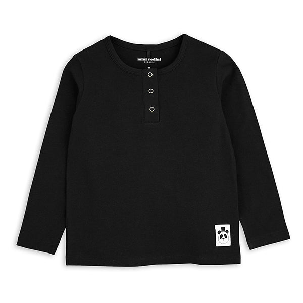 Mini Rodini Black Grandpa Long Sleeve Tee