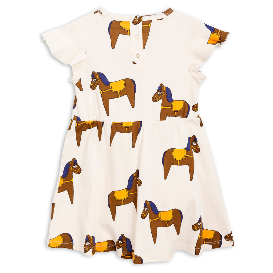 Mini Rodini Horse Dress Yellow (last one 9-11y)