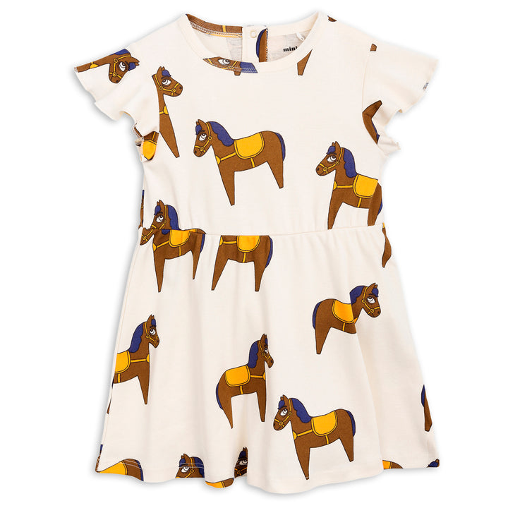 Mini Rodini Horse Dress Yellow (9-11y left)