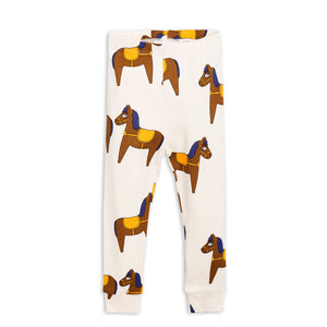 Mini Rodini Horse Leggings Yellow (1-4m & 5-7y left)