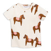Mini Rodini Horse Short Sleeve Tee Pink