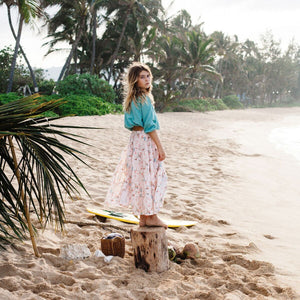 Island State Co Wildflower Maxi Skirt