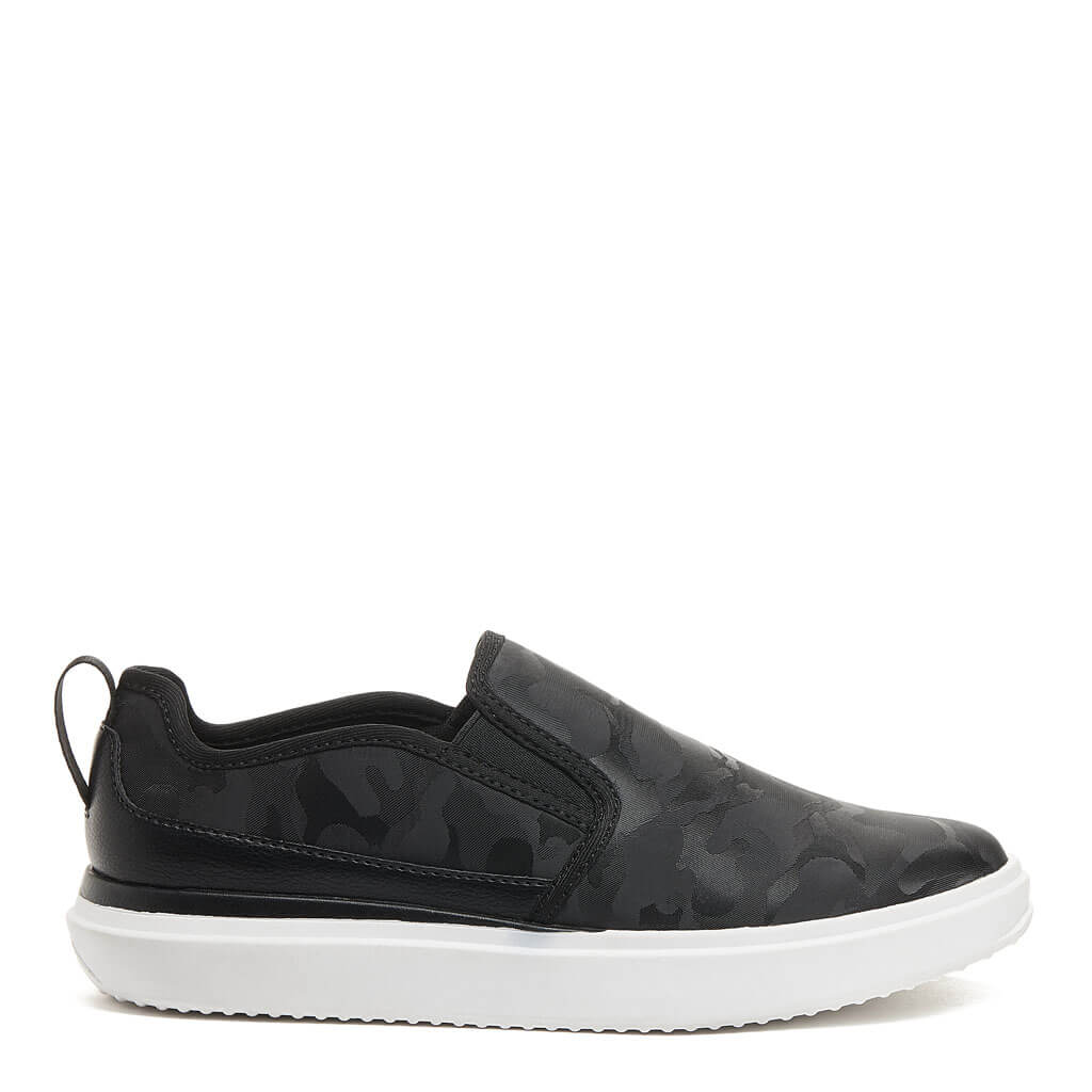 Becki Black Camo Slip-On Sneaker