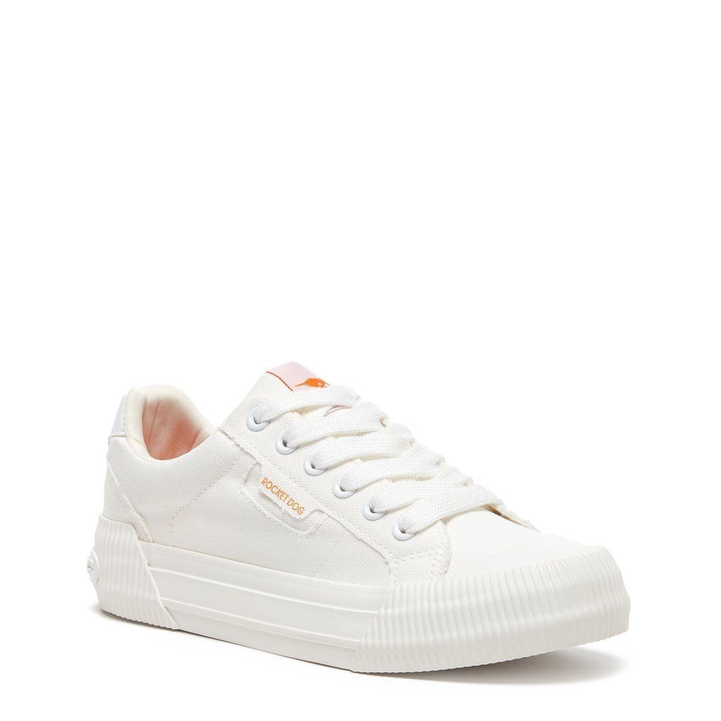 Cheery White Canvas Sneaker