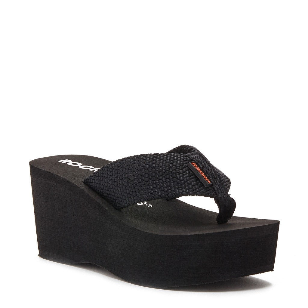 Crush Black Webbing Flip Flop