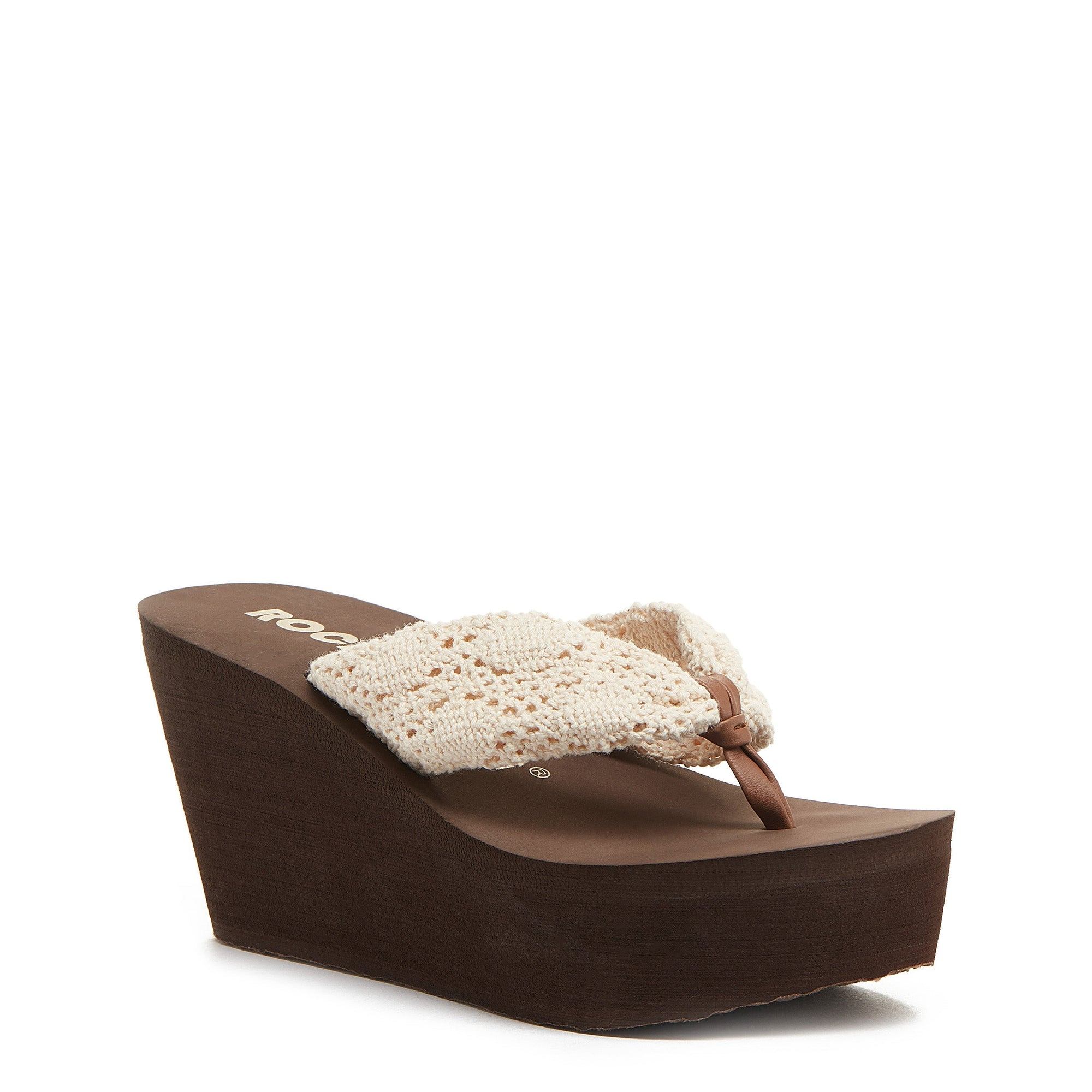 Dock Natural Crochet Sandal
