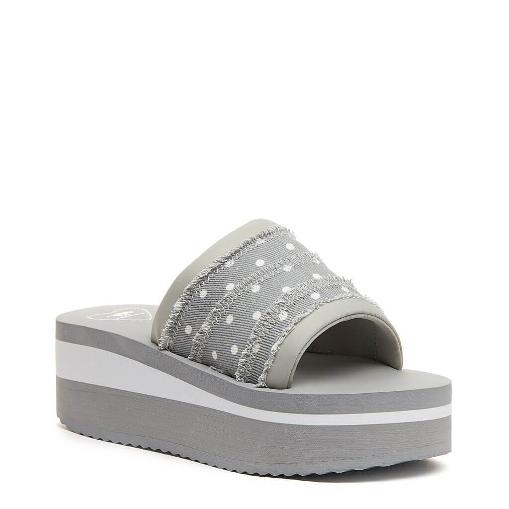 Rocket Dog® Hilo Grey Dot Platform Slide
