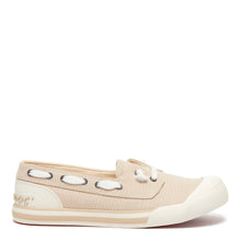 Jazzin Jetty Natural Pinstripe Slip On