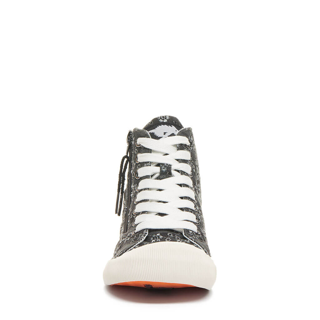 Rocket Dog® Jazzin Black Eyelet High Top Sneaker