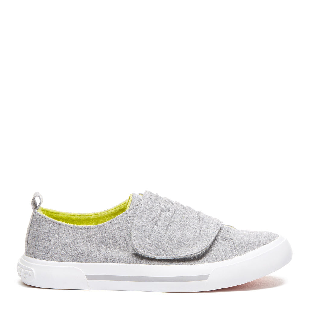 Jazzle Light Grey Velcro Slip-on
