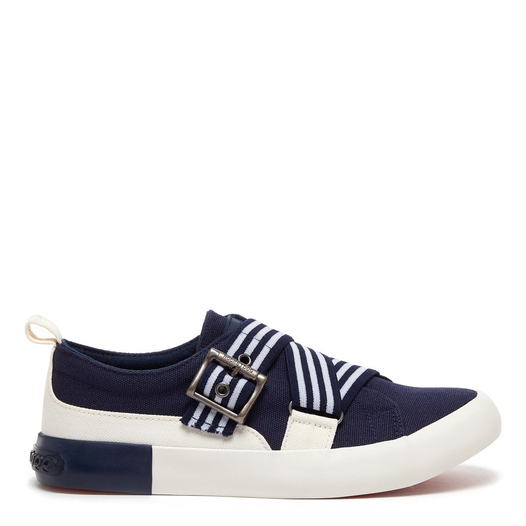 Jorra Navy Stripe Slip-on Sneaker