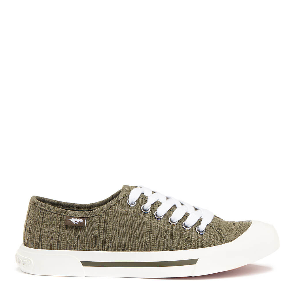 Jumpin Olive Distressed Sneaker