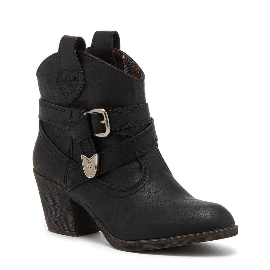 Satire Black Western Boot